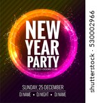 new year party and christmas... | Shutterstock .eps vector #530002966