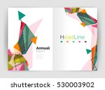 geometric annual report... | Shutterstock . vector #530003902