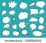 hand drawn vector sketch speech ... | Shutterstock .eps vector #530004502