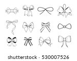 bows black and white silhouette ... | Shutterstock .eps vector #530007526
