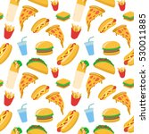 food seamless pattern vector... | Shutterstock .eps vector #530011885