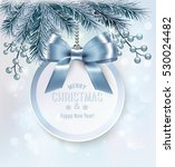 christmas background with a... | Shutterstock .eps vector #530024482