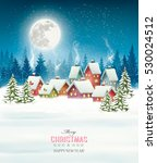 christmas greeting card against ... | Shutterstock .eps vector #530024512