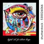 original contemporary digital... | Shutterstock .eps vector #530026066