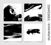 set of four black ink brushes... | Shutterstock .eps vector #530026402