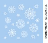 christmas snowflakes collection ... | Shutterstock .eps vector #530026816