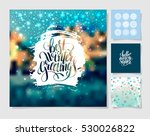 set of christmas decoration... | Shutterstock .eps vector #530026822