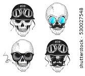 set skulls. vector illustration | Shutterstock .eps vector #530027548