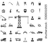 building crane icon.... | Shutterstock .eps vector #530031055