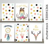 card template collection for...   Shutterstock .eps vector #530041366