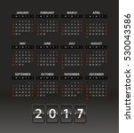 2017 year vector calendar... | Shutterstock .eps vector #530043586