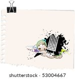 note with grunge design | Shutterstock .eps vector #53004667