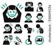 sick icon set | Shutterstock .eps vector #530049256
