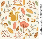 seamless pattern and autumn... | Shutterstock .eps vector #530058988