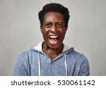 angry black man. | Shutterstock . vector #530061142