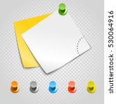 color pins and paperclip... | Shutterstock .eps vector #530064916