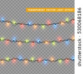 garlands  christmas decorations ... | Shutterstock .eps vector #530068186