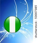 nigeria flag button on abstract ... | Shutterstock .eps vector #53007385