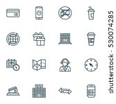 set of 16 airport icons. can be ...
