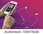 music audio mp3 player podcast... | Shutterstock . vector #530075638