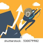 businessman fly to sky by light ... | Shutterstock .eps vector #530079982
