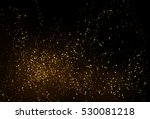 gold glitter powder splash... | Shutterstock .eps vector #530081218