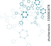structure molecule and... | Shutterstock . vector #530081878