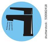 single lever faucet. black... | Shutterstock .eps vector #530082418