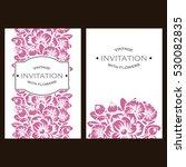 vintage delicate invitation... | Shutterstock .eps vector #530082835