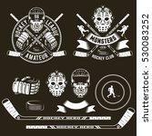 hockey logos  player  head ... | Shutterstock .eps vector #530083252