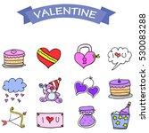 vector art of object valentine... | Shutterstock .eps vector #530083288