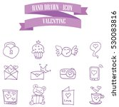 valentine purple icons style... | Shutterstock .eps vector #530083816