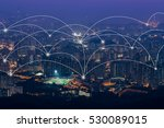 network and connection... | Shutterstock . vector #530089015