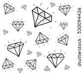 diamond doodle pattern   Shutterstock .eps vector #530094436