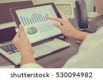 start up asian businesswoman... | Shutterstock . vector #530094982