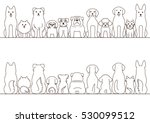 small and large dogs border set ... | Shutterstock .eps vector #530099512