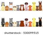 small and large dogs border set ... | Shutterstock .eps vector #530099515