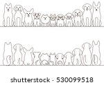 small and large dogs border set ... | Shutterstock .eps vector #530099518