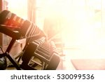 rows of dumbbells in the gym | Shutterstock . vector #530099536