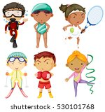 people doing different kinds of ... | Shutterstock .eps vector #530101768