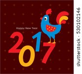 cute chicken happy new year... | Shutterstock .eps vector #530102146