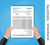 hand holding invoice. unfill... | Shutterstock . vector #530103796