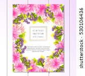 invitation with floral... | Shutterstock . vector #530106436