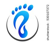 foot step logo | Shutterstock .eps vector #530107372