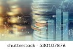 double exposure of graph and... | Shutterstock . vector #530107876