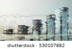 double exposure of graph and... | Shutterstock . vector #530107882