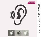 ear vector icon. illustration... | Shutterstock .eps vector #530107942