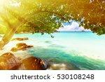 tropical island. the seychelles.... | Shutterstock . vector #530108248