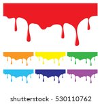 paint dripping backgrounds in... | Shutterstock .eps vector #530110762