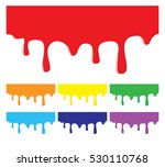 paint dripping backgrounds in... | Shutterstock .eps vector #530110768